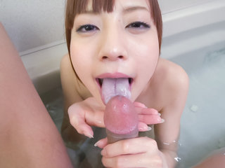Bathroom porn pleasures along nude Yuria Mano